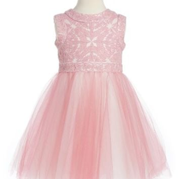 Tadashi Shoji Lace & Tulle Dress (Toddler Girls, Little Girls & Big Girls) | Nordstrom
