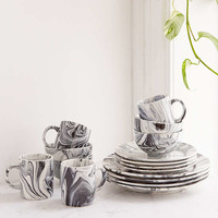 16-Piece Marble Glaze Dinnerware Set | Urban Outfitters