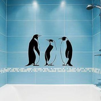 Wall Stickers Vinyl Decal Penguin Winter Animal Great Bathroom Decor Unique Gift (ig872)