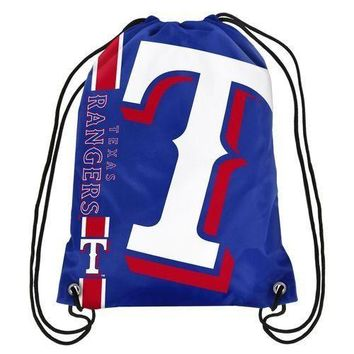 Texas Rangers MLB  Drawstring Back Pack - SackPack ~ NEW!