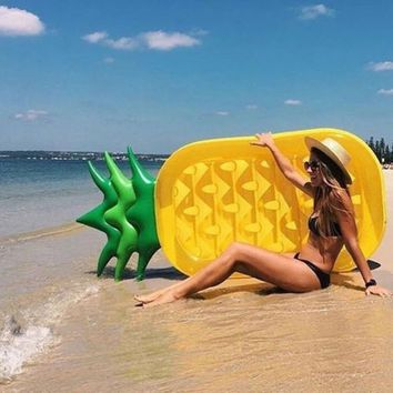 Giant Pineapple Pool Float Inflatable Swimming Raft Water Swim Ring Toys Beach