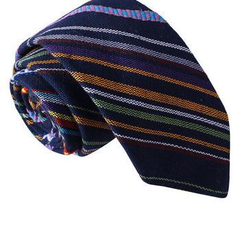 Tribal Striped Skinny Tie