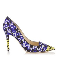 Violet and Yellow Floral Printed Jacquard Pointy Toe Pumps | Avril | Spring Summer 15 | JIMMY CHOO Shoes