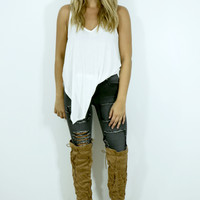 Good To Be Bad Camel Suede Over The Knee Boots