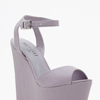 Shoe Cult Belen Platform Wedge - Lavender