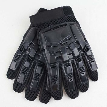 Full Fingers Mens Leather Driving Gloves Tactical Gloves Military Outdoor Sports Bicycle Protection Gloves Full Finger Guantes
