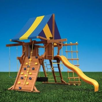 Playground One Deluxe Playcenter Double Swing Arm