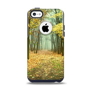 The Subtle Gold Autumn Forrest Apple iPhone 5c Otterbox Commuter Case Skin Set