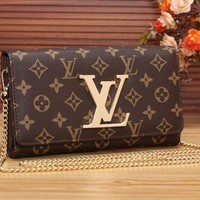 Retro LV Leather Wallet Poket Satchel Bag F