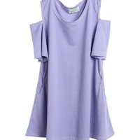 Purple Off-The-Shoulder Trumpet Dress