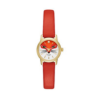 Kate Spade Tiny Metro Fox Strap Watch Red ONE