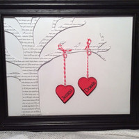 Wedding frame personalized couple love song favorite poem ect wedding gift tree with hearts frame included