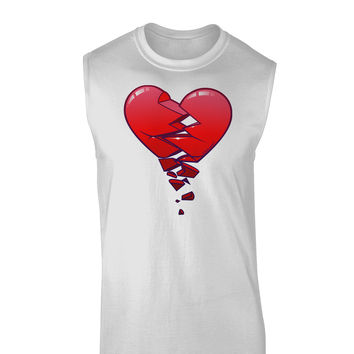 Crumbling Broken Heart Muscle Shirt by