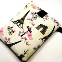 Eiffel Tower Tablet Case/Paris iPad Case/ Vintage Post Card Kindle Fire Case/ Galaxy Cover/ Google Nexus Case/ iPad Case