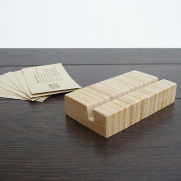 Business Card Holder. Bamboo Business Card Holder. Bamboo Card Holder. Wood Card Holder.