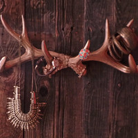 Wall Antler, Faux Antler Jewelry Hanger, Jewelry Stand, Large Deer Antlers, Antler wall decor