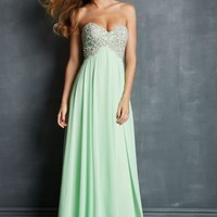 2014 Night Moves Flowy Prom Dress 7027