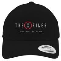 The X Files I Still Want To Believe  Embroidered Cotton Twill Hat