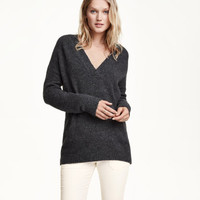 H&M Wool-blend V-neck Sweater $49.99