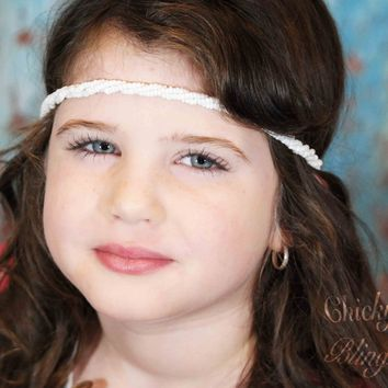 Girls Twisted Colorful Beads Headbands