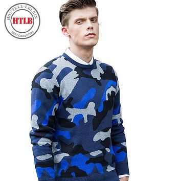 HTLB New Arrive men sweaters new 2017 knitwear top quality brand clothing fashion elastic male Pullovers P004