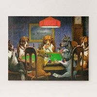 Dogs Playing Poker Jigsaw Puzzle