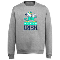 SustainU Notre Dame Fighting Irish Recycled Crew Neck Sweatshirt - Gray