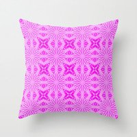 Pink Flower Field Throw Pillow by 2sweet4words
