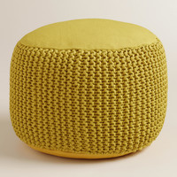 Green Indoor-Outdoor Pouf - World Market