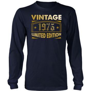 Men's Vintage 1975 43 Year Old Birthday Gift Long Sleeve T-Shirt