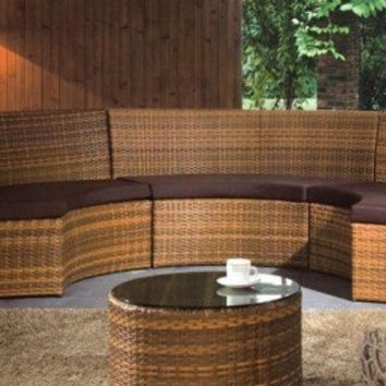 Curved Outdoor Sectional Furniture Set - Opulentitems.com