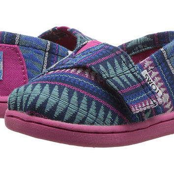 TOMS Kids Seasonal Classics (Infant/Toddler/Little Kid) Cobalt Tribal Woven - Zappos.com Free Shipping BOTH Ways