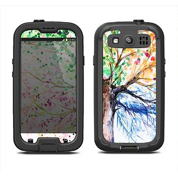 The WaterColor Vivid Tree Samsung Galaxy S3 LifeProof Fre Case Skin Set