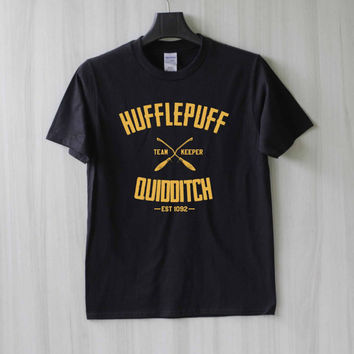 Hufflepuff Quidditch Harry Potter Shirt T Shirt Tee Top TShirt – Size XS S M L XL