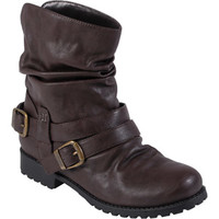 Walmart: Brinley Co. - Women's Buckle Detail Slouchy Boots