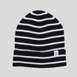 Striped Merino Beanie / Dark Navy