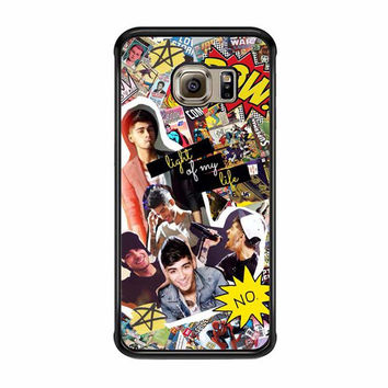 zayn malik comic collage one direction samsung galaxy s7 s7 edge cases