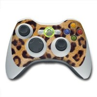 Leopard Print Design Skin Decal Sticker for the Xbox 360 Controller