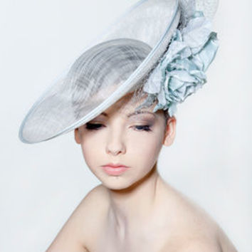 Saucer Hat With Double Silk Roses