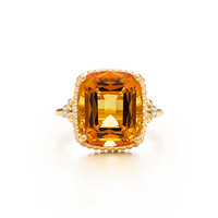 Tiffany & Co. - Tiffany Sparklers citrine ring in 18k gold with diamonds.