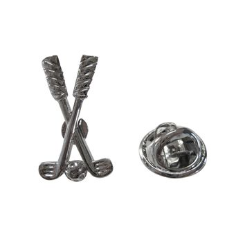 Crossed Golf Clubs Lapel Pin and Tie Tack