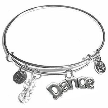 Hidden Hollow Beads Message Charm 84 Options Expandable Wire Bangle Bracelet in the popular style COMES IN A GIFT BOX