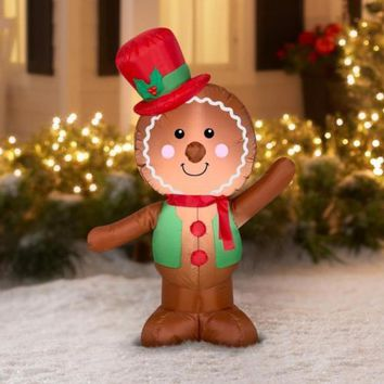 LED Inflatable Gingerbread Man For Christmas