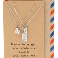 Noah Father's Day Card Father Daughter Personalized Engraved Necklaces