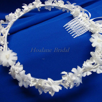 Flower Girl Headpiece, flower girl wreath