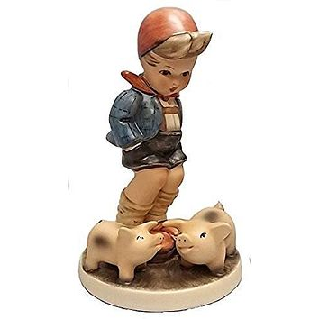 M.I. Hummel Farm Boy with Pigs Porcelain Figurine Made in Germany Figure