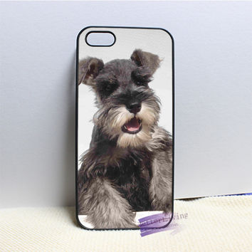 Miniature schnauzer puppy dog cell phone case cover for iphone