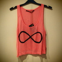 COSMIC RAY clothing — 'INFINITY' Pink Crop Top