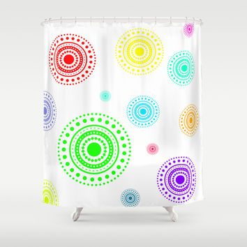 colorful circles Shower Curtain by Haroulita