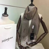 Perfect Yves Saint laurent (YSL) Women and Men Fashion Accessories Sunscreen Cape Scarves Silk Scarf YSL shawl q_1689347108